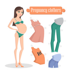 pregnancy clothers banner vector image