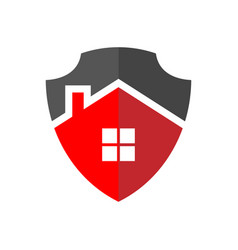 Protection home logo the image house vector
