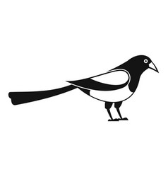 Searching magpie icon simple style vector