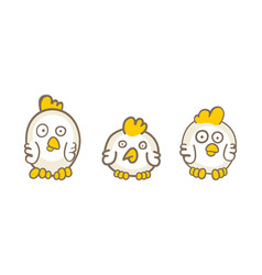 set chicks vector image