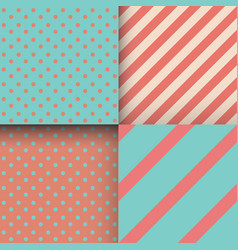 set seamless abstract patterns stripes and vector image