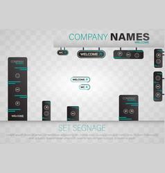 set signage vector image