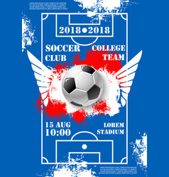 soccer game college team football poster vector image