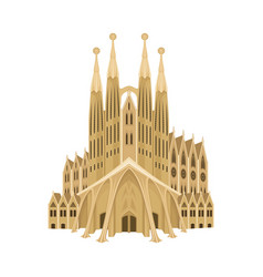 Spain cathedral church or dom as country landmark vector