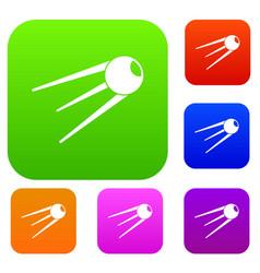 Sputnik set collection vector