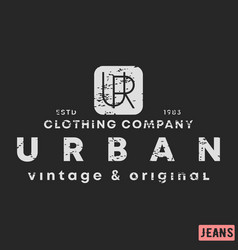 t-shirt print design urban clothing vintage vector image