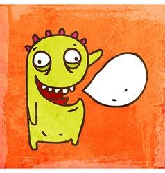 Talking Monter Cartoon vector image