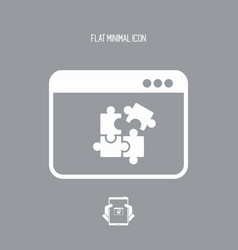 team application flat icon vector image