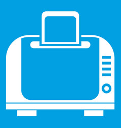 Toaster icon white vector