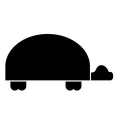 turtle the black color icon vector image