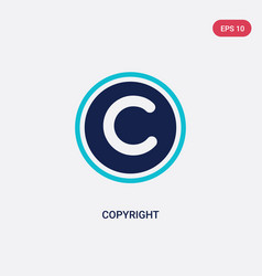 Two color copyright icon from content concept vector