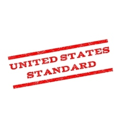 United States Standard Watermark Stamp vector image