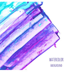 Violet indigo purple turquoise blue watercolor vector