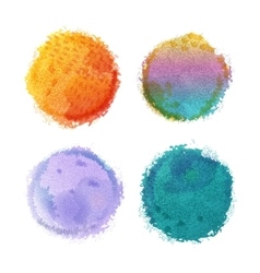 watercolor round spots with hand drawn vector image