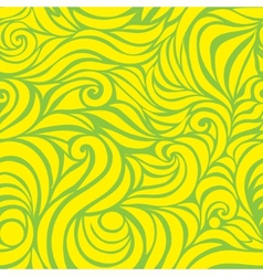 Wave seamless hand drawn pattern vector image
