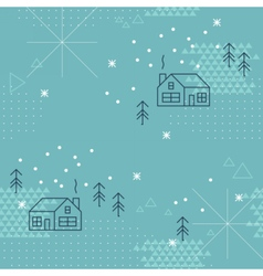 Winter geometric collage seamless pattern vector image
