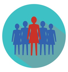 Women leadership concept Women team vector image