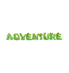 Word adventure with capital vector