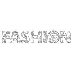 Word fashion with masks vector