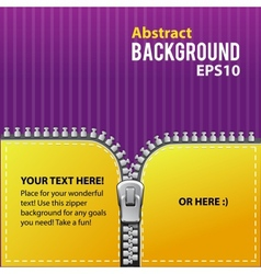 Zipper abstract background vector image