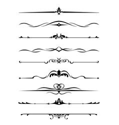 Borders and monograms vector