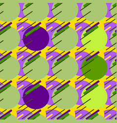 seamless modern patterngreen background geometry vector image