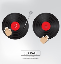 sex rate background sex by music Isolated vector image vector image