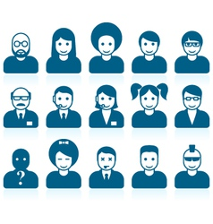 Simple people avatars vector image vector image