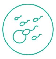 Fertilization line icon vector image vector image