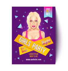 girls party in nightclub vector image