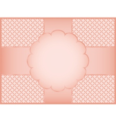 pink gift wrapper vector image