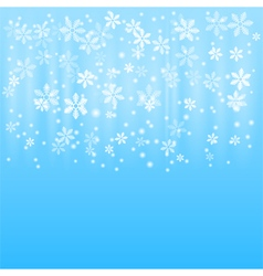 Snow winter background vector image vector image