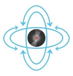 vr circular camera panorama vector image vector image