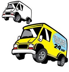 commercial cartoon van vector image