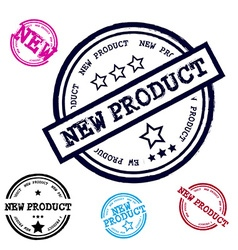 New Product Grunge Stamp Set Isolated on White vector image vector image