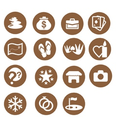 hotel themes iconset vector image vector image