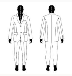 Mans black silhouette figure vector