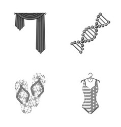 Medicine textiles entertainment and other vector