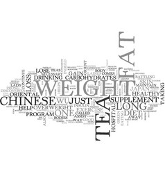 A new way to lose weight from the orient text vector