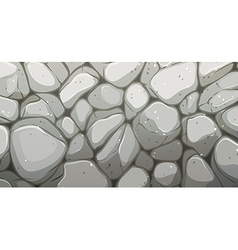 A wall made of stone vector
