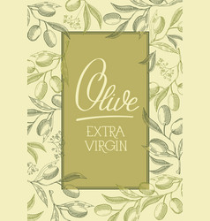 Abstract olive vintage poster vector