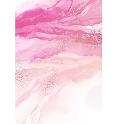 Abstract pink watercolor wall arts collection vector