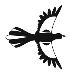 Air fly magpie icon simple style vector