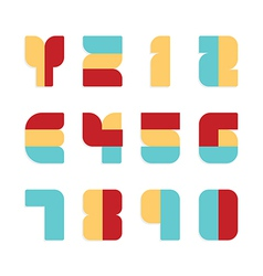 Alphabet set paper colour style vector image