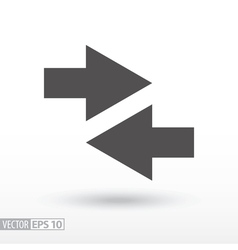 Arrow - flat icon vector image