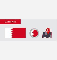 Bahrain flag is horizontally isolated vector