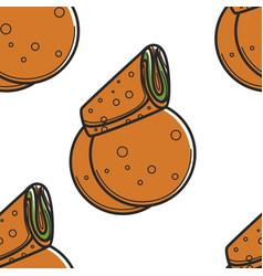bakery product armenian pita bread or lavash vector image