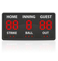 baseball sports digital scoreboard vector image