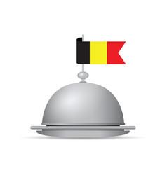 belgium flag dinner platter vector image
