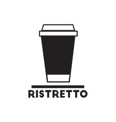 black icon on white background ristretto to vector image